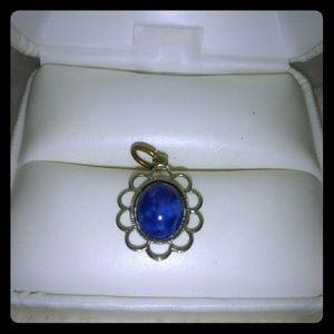 Vintage lapis lazuli and sterling pendant